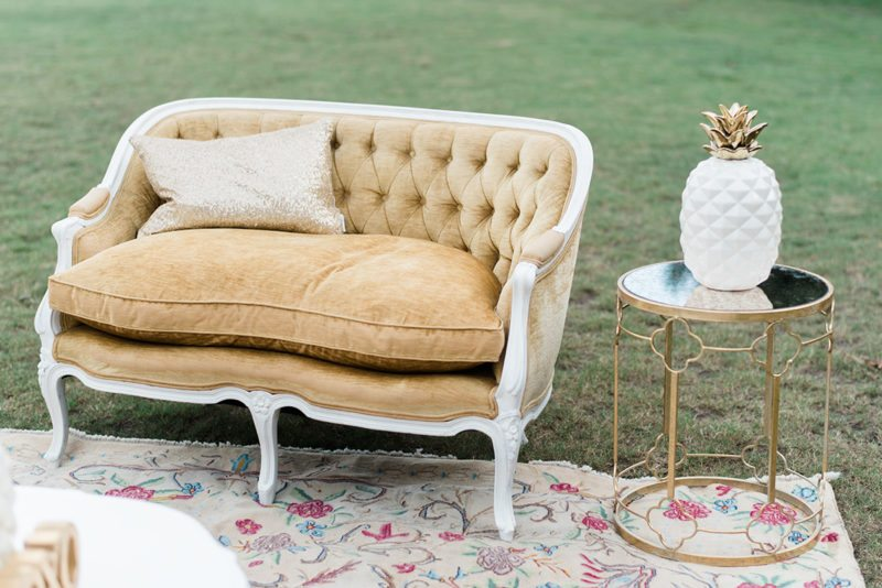 vintage wedding lounge rentals